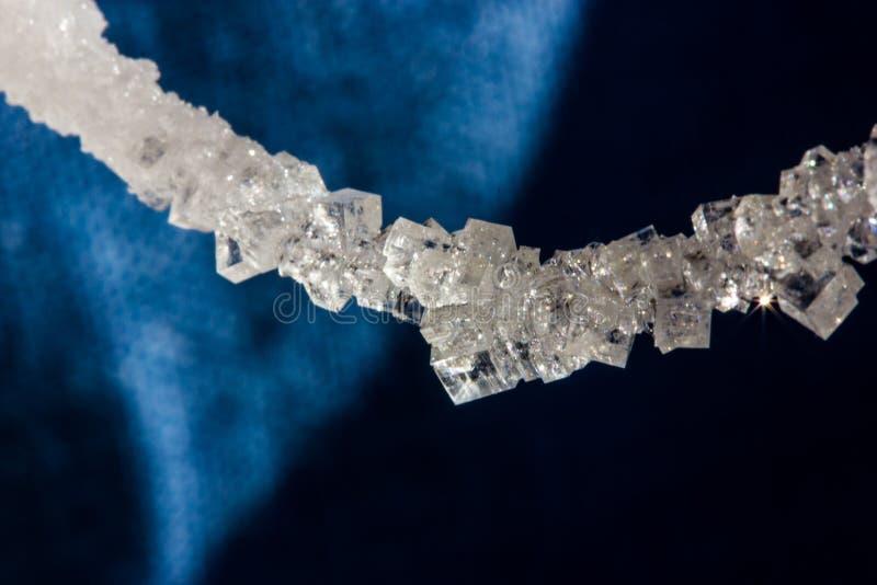 Cristales hermosos de la sal en una secuencia foto de archivo libre de regalías