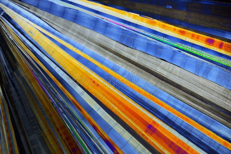 Cristales micro coloridos en luz polarizada fotografía de archivo libre de regalías