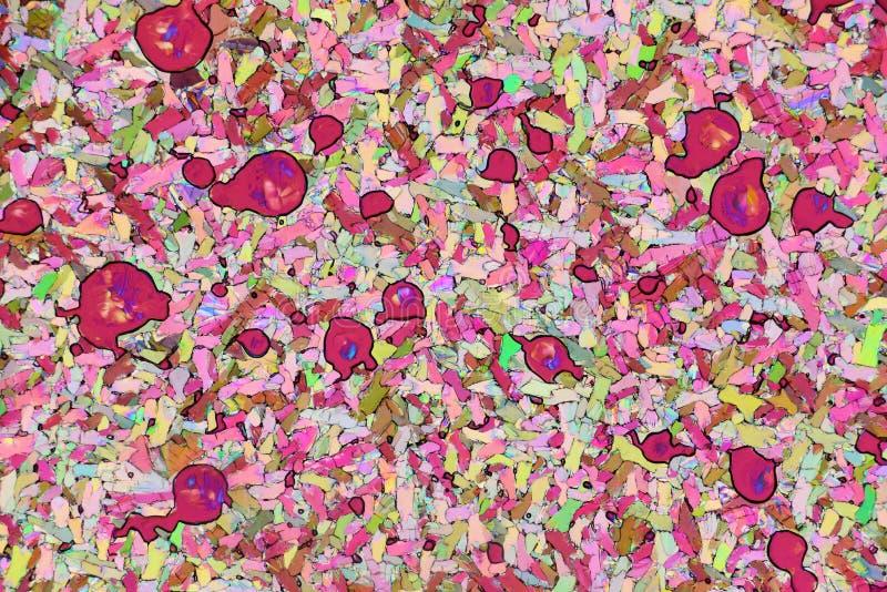Cristales micro coloridos en luz polarizada imagenes de archivo