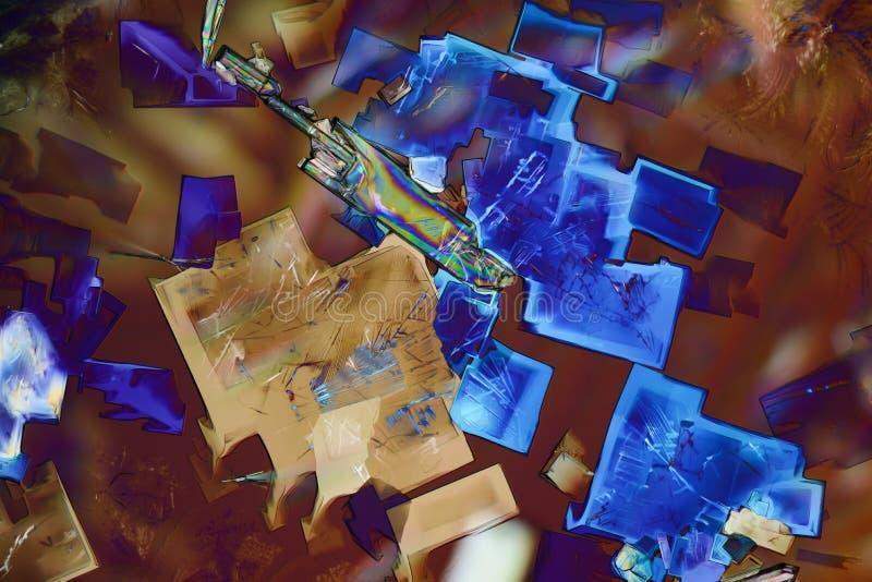 Cristales micro coloridos en luz polarizada imagen de archivo libre de regalías