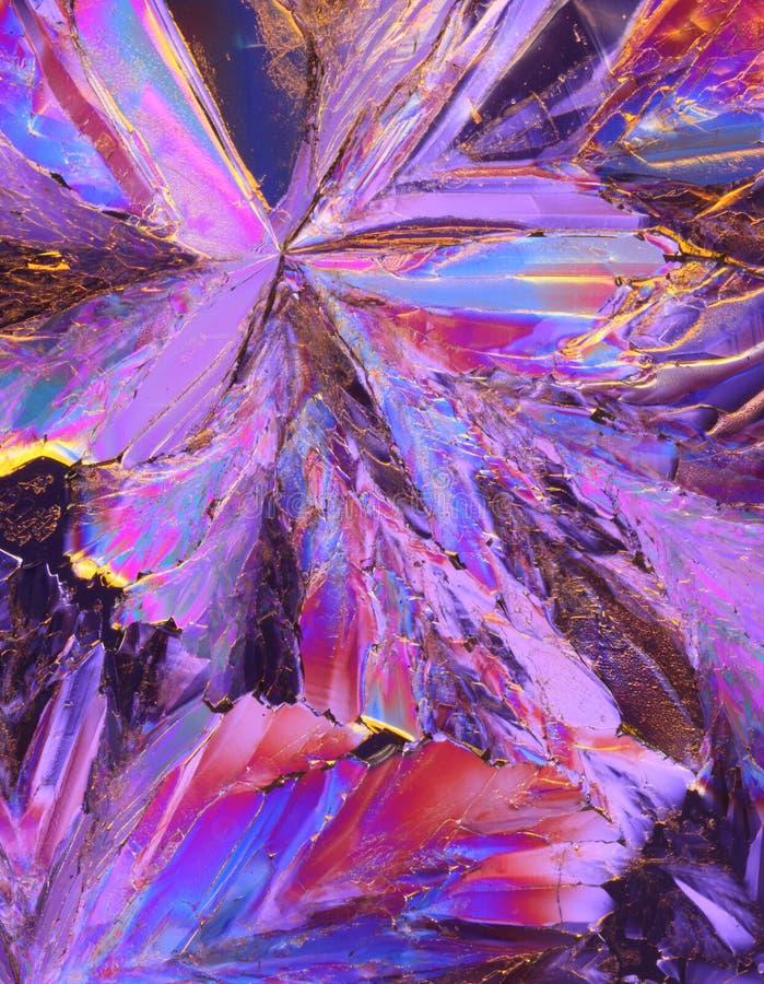Cristales púrpuras del ácido cítrico foto de archivo libre de regalías