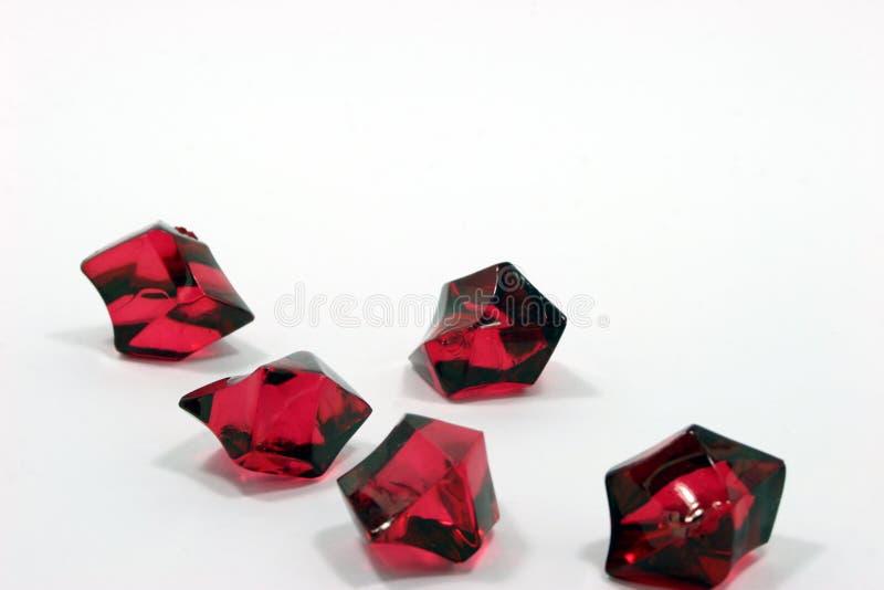 Cristales rojos fotos de archivo libres de regalías