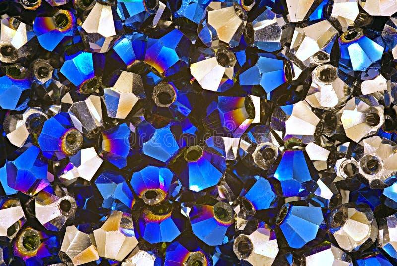 Cristales Swarovski azules y metálicos fotografía de archivo