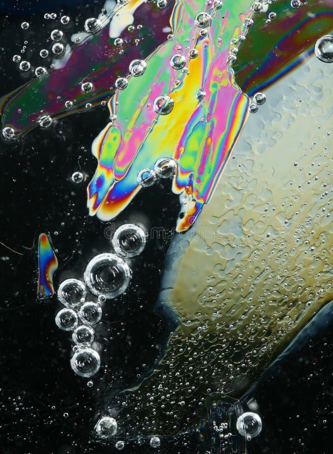Cristales y burbujas de hielo imágenes de archivo libres de regalías