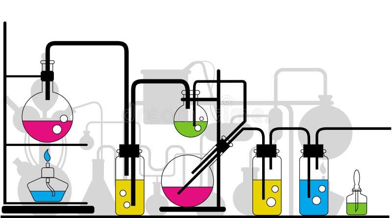 Cristalleria chimica illustrazione vettoriale
