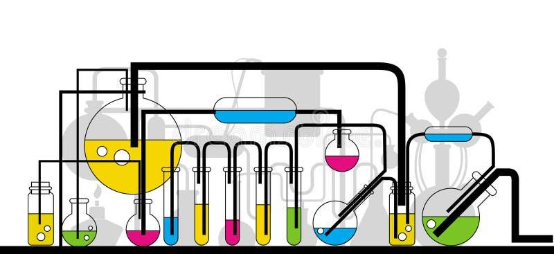 Cristalleria chimica illustrazione di stock