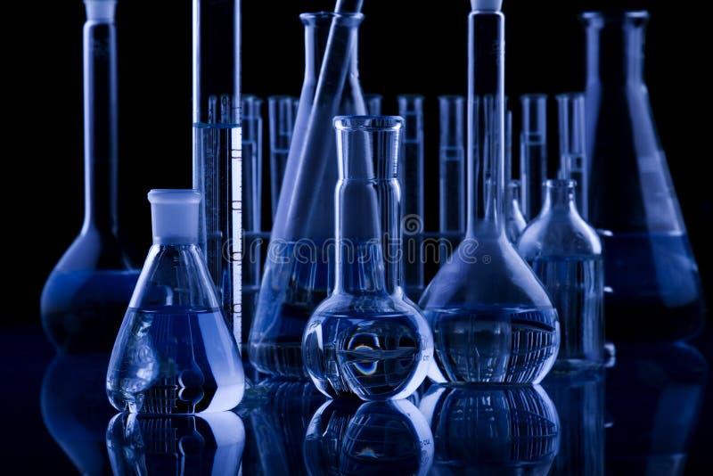 Cristalleria scura di Labolatory immagine stock