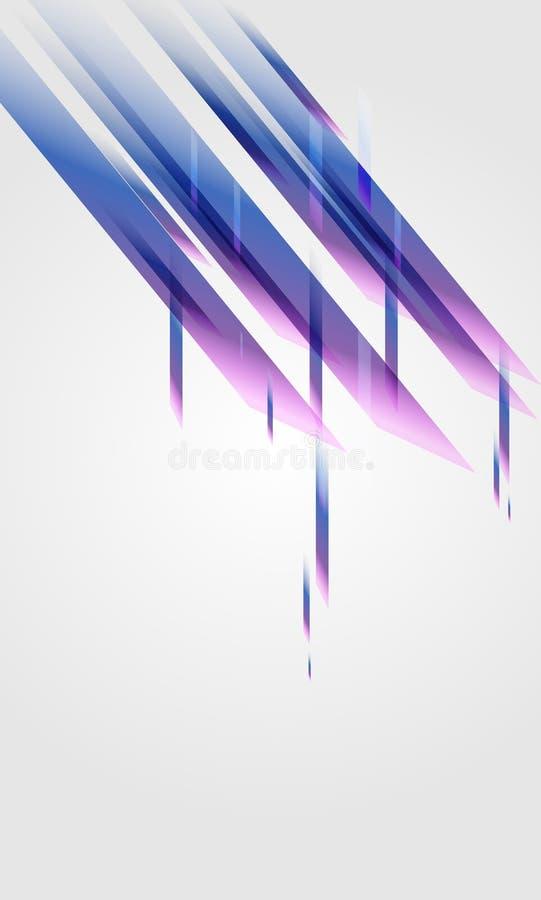 Cristalli astratti illustrazione di stock