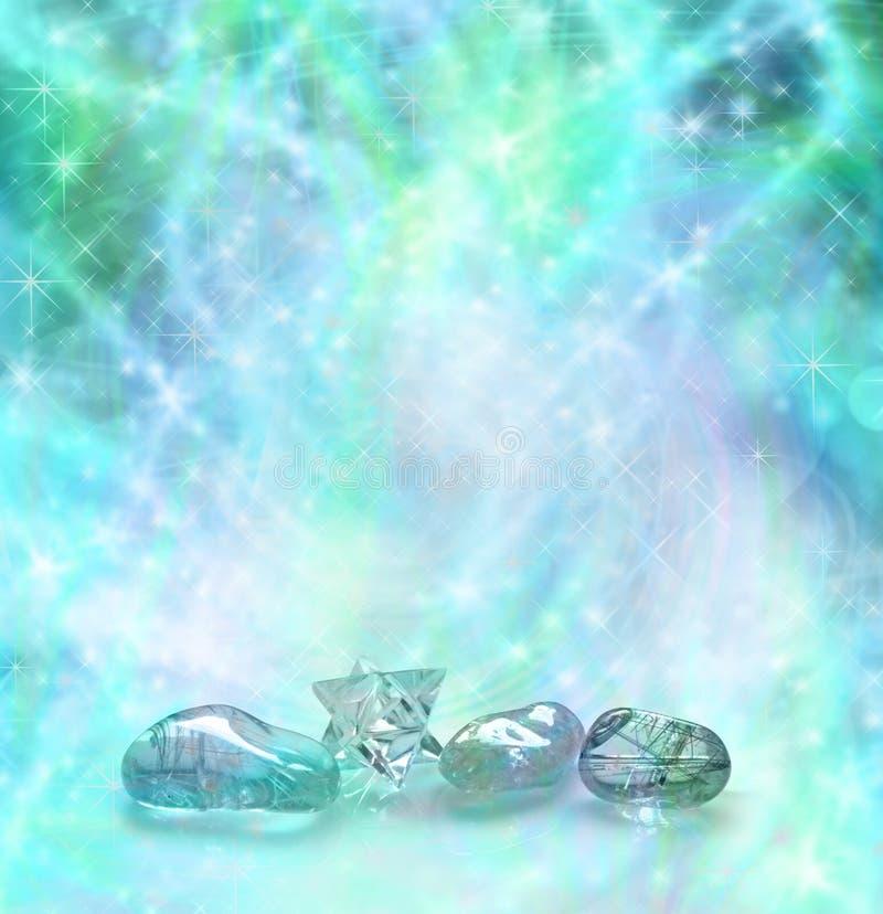 Cristalli curativi cosmici fotografia stock libera da diritti