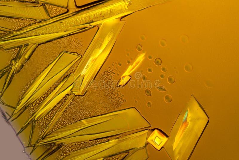 Cristalli del cloruro ferrico fotografie stock