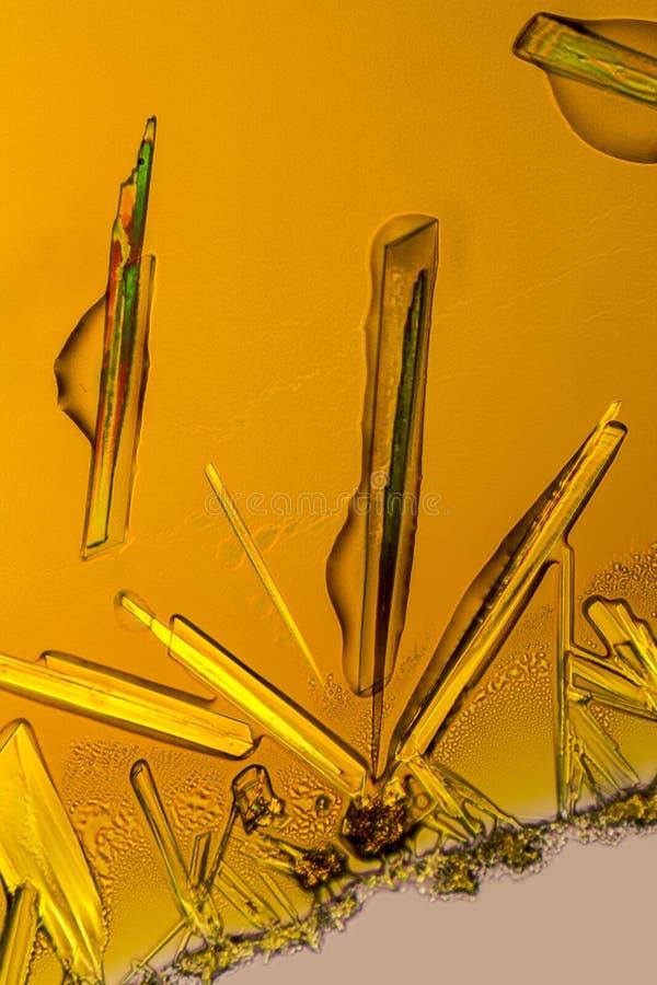 Cristalli del cloruro ferrico fotografia stock