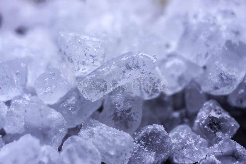 Cristalli del sale marino fotografia stock