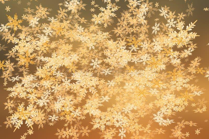 Cristalli delle precipitazioni nevose di tramonto immagini stock libere da diritti