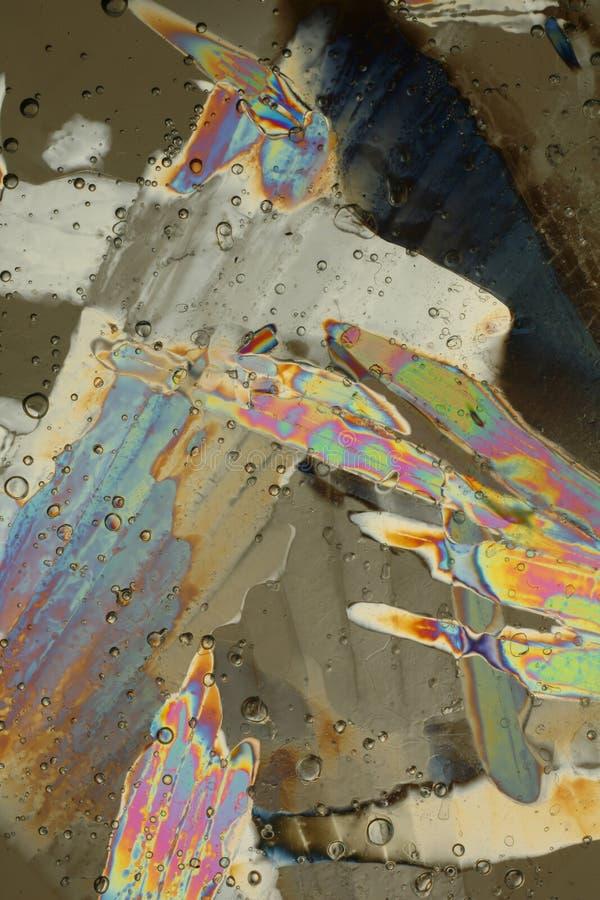 Cristalli di ghiaccio variopinti   immagini stock