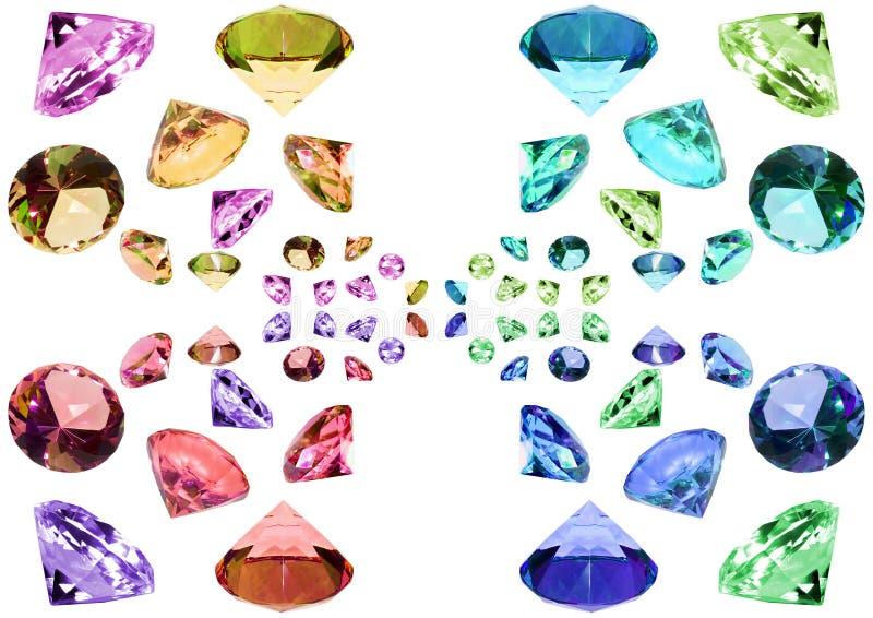Cristalli di vetro immagini stock