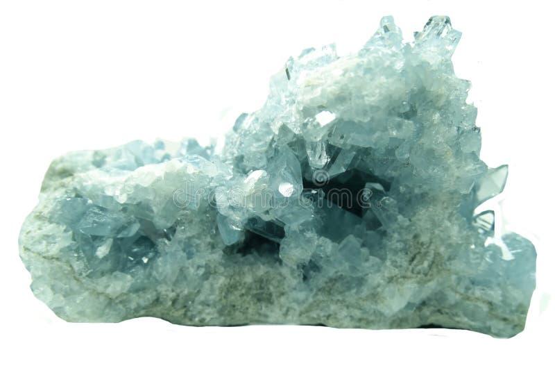 Download Cristalli Geologici Di Geode Dell'acquamarina Fotografia Stock - Immagine di gemma, cristalli: 56887462