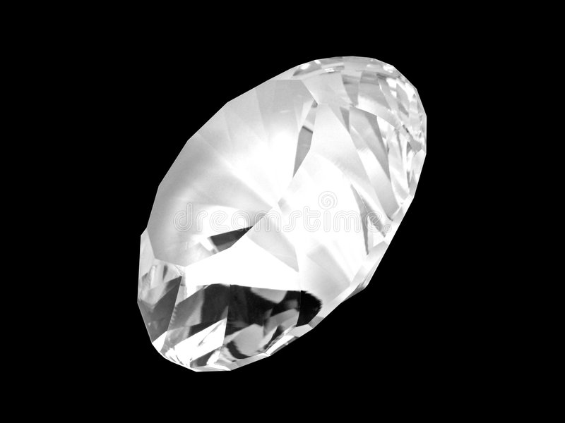Cristallo bianco del diamante (parte anteriore) immagine stock