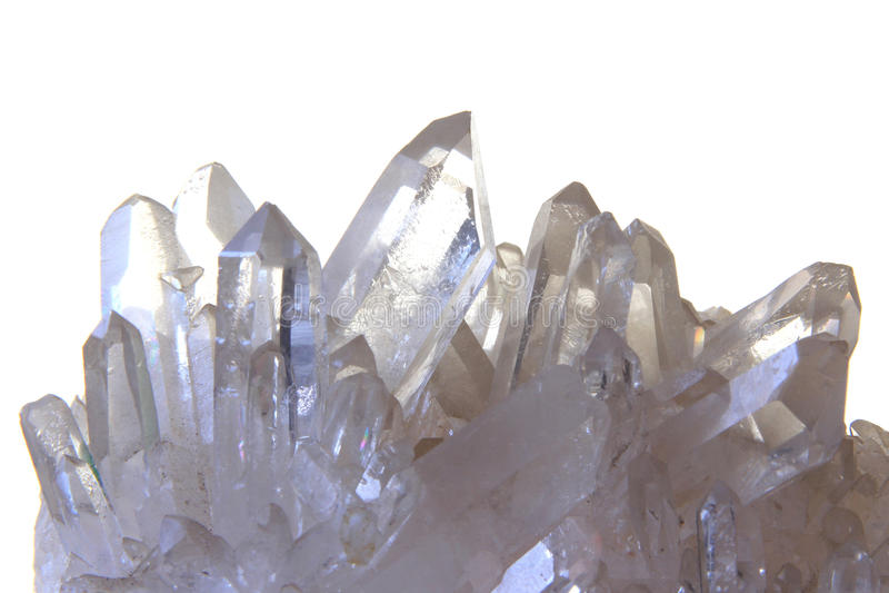 Cristallo di rocca immagine stock