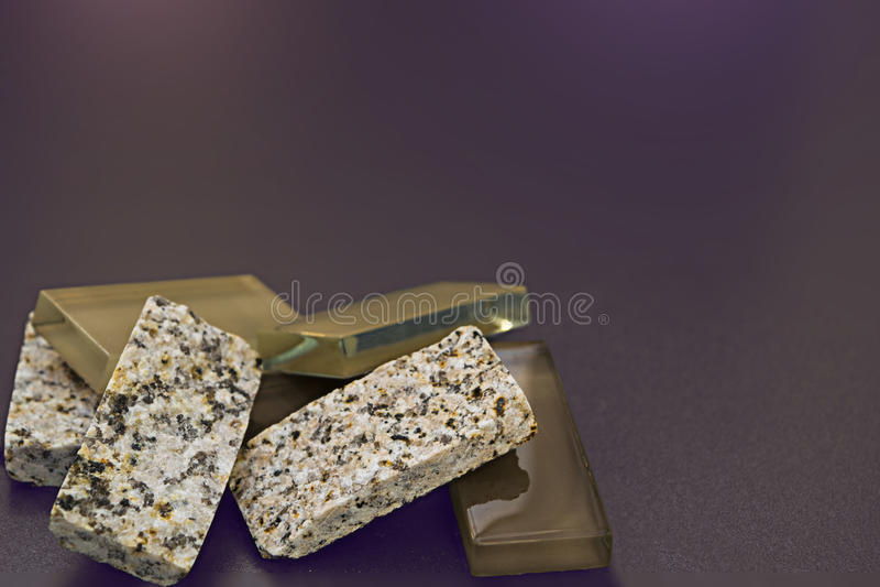Cristallo e rocce fotografia stock