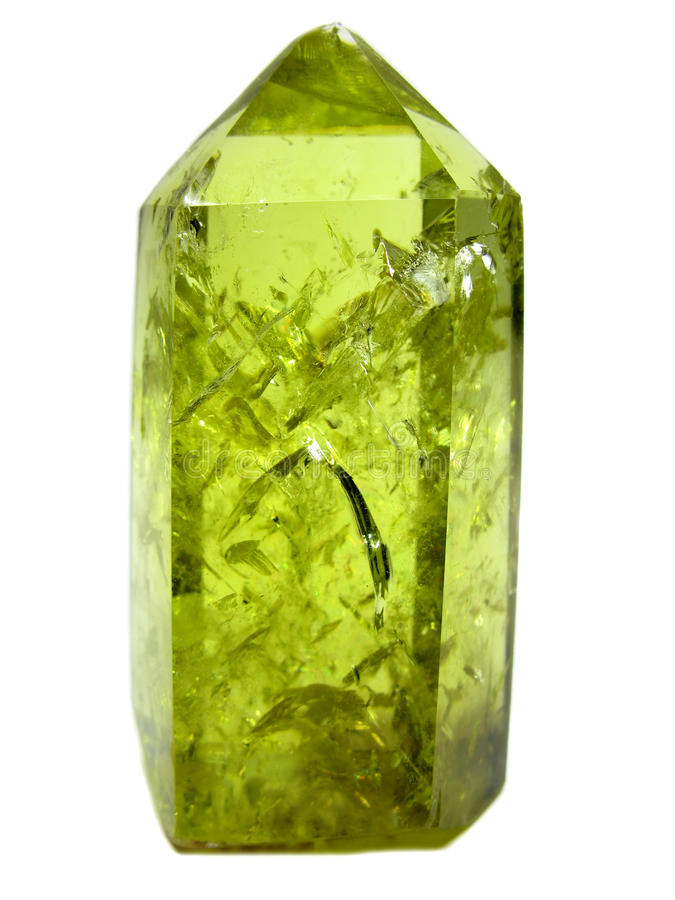 Cristallo geologico del quarzo naturale giallo citrino fotografie stock