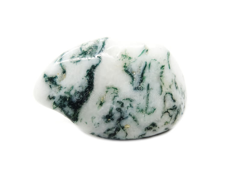 Cristallo geologico minerale semiprezioso dell'agata muschiata fotografia stock