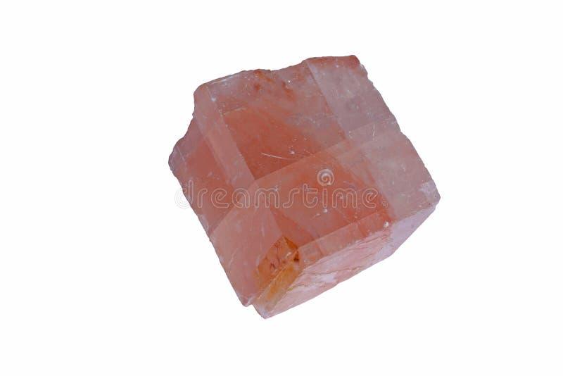 Cristallo romboedrico di calcite immagine stock libera da diritti