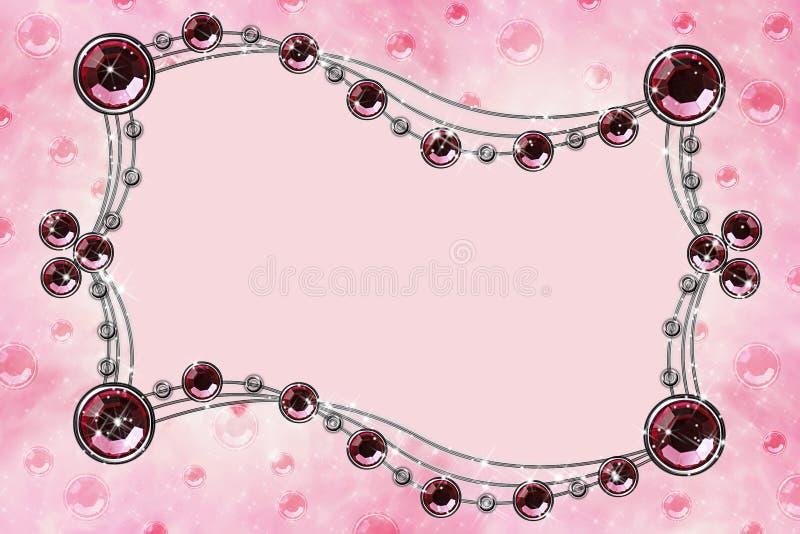 Download Cristallo Rosso Sul Colore Rosa Illustrazione di Stock - Illustrazione di figura, metallo: 3889355