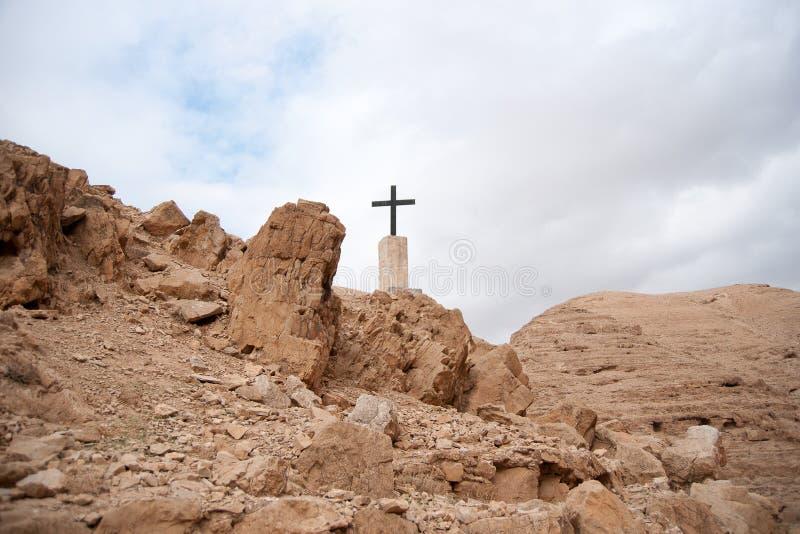 Cristandade do deserto da Terra Santa foto de stock