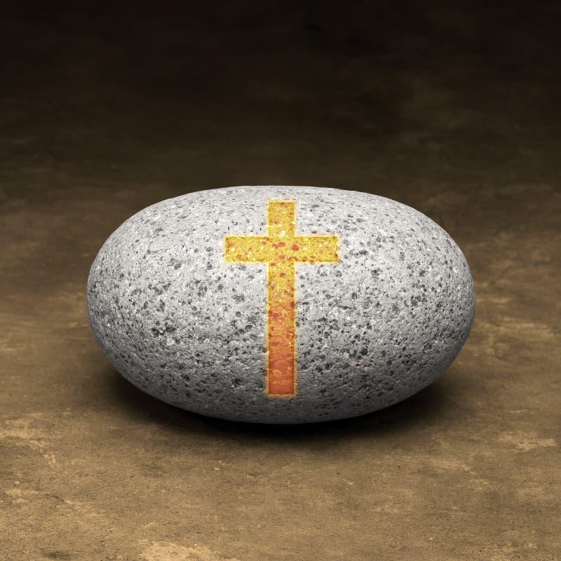 Cristandade minha rocha imagem de stock