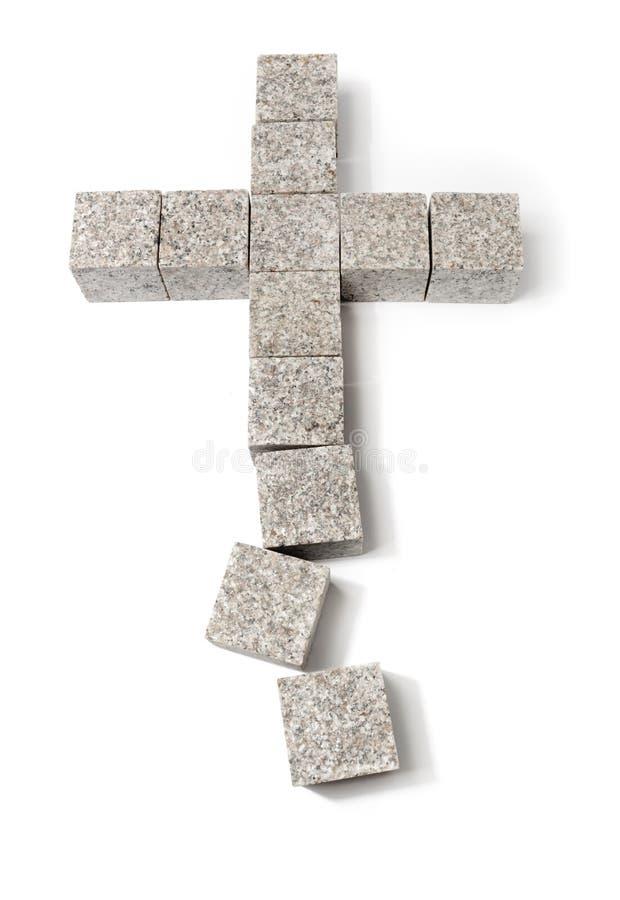 Cristandade quebrada imagens de stock
