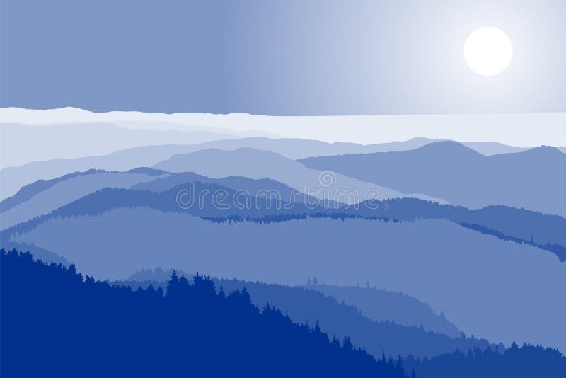 Cristas de montanha ilustração do vetor