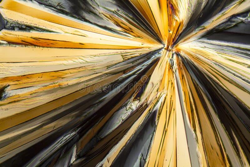 Cristaux colorés de micro de sucrose photo stock