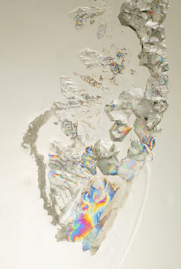 Cristaux colorés de sucre images stock