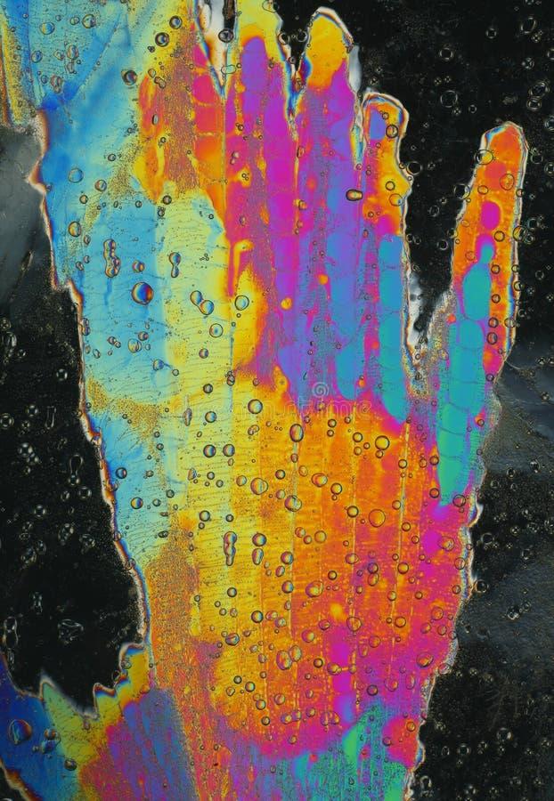Cristaux de glace colorés photographie stock libre de droits