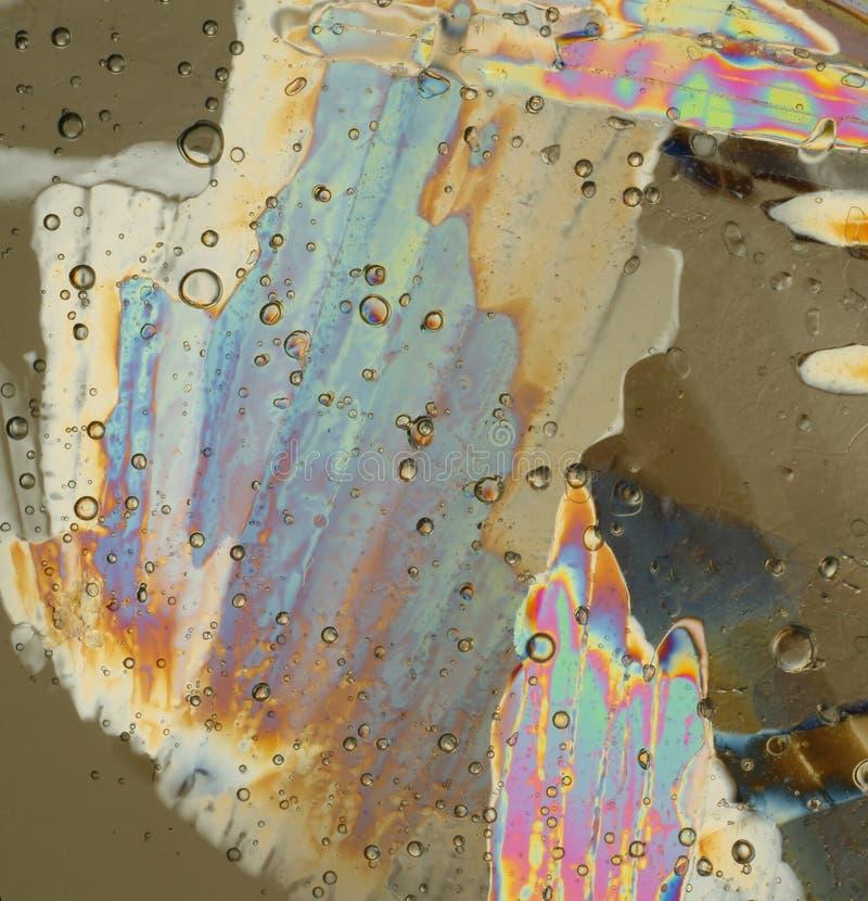 Cristaux de glace colorés en pastel image libre de droits