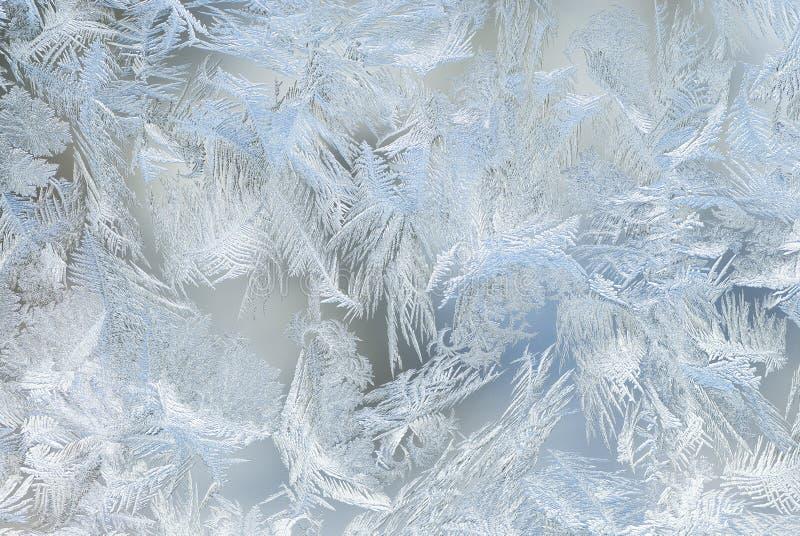Cristaux de glace d'hublot image stock