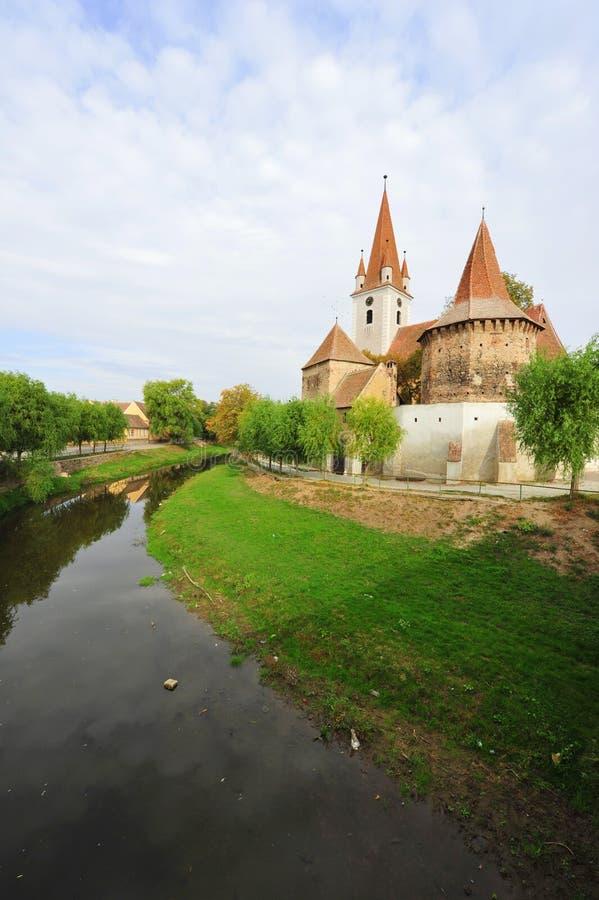 Cristian укрепил церковь - Sibiu, Transylvania стоковые изображения rf