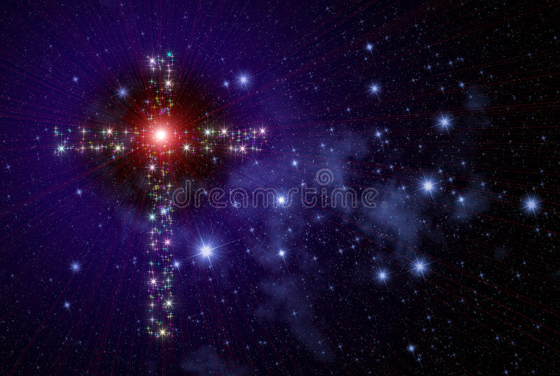 Cristian Cross Space stock image