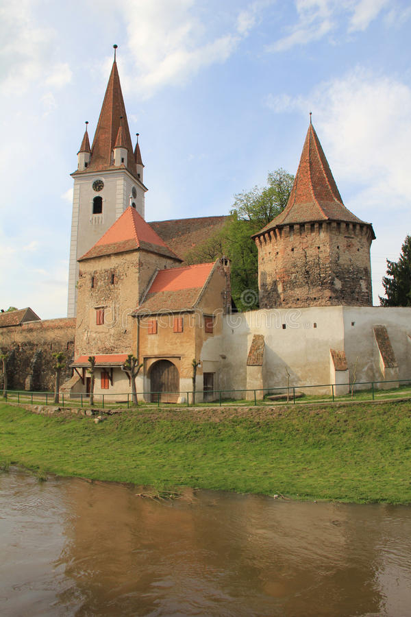 Cristian fortified church royalty free stock photo