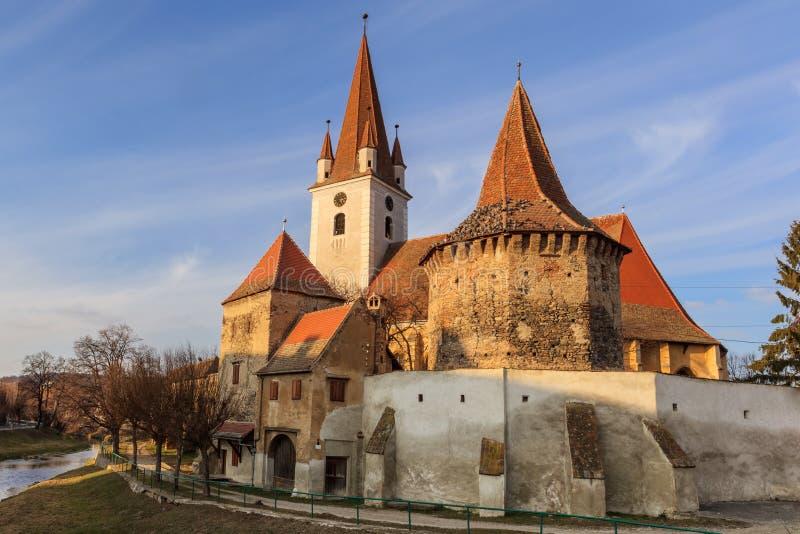 Cristian ha fortificato la chiesa fotografie stock libere da diritti