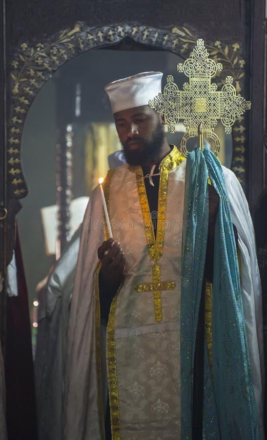 Cristiani etiopici immagini stock