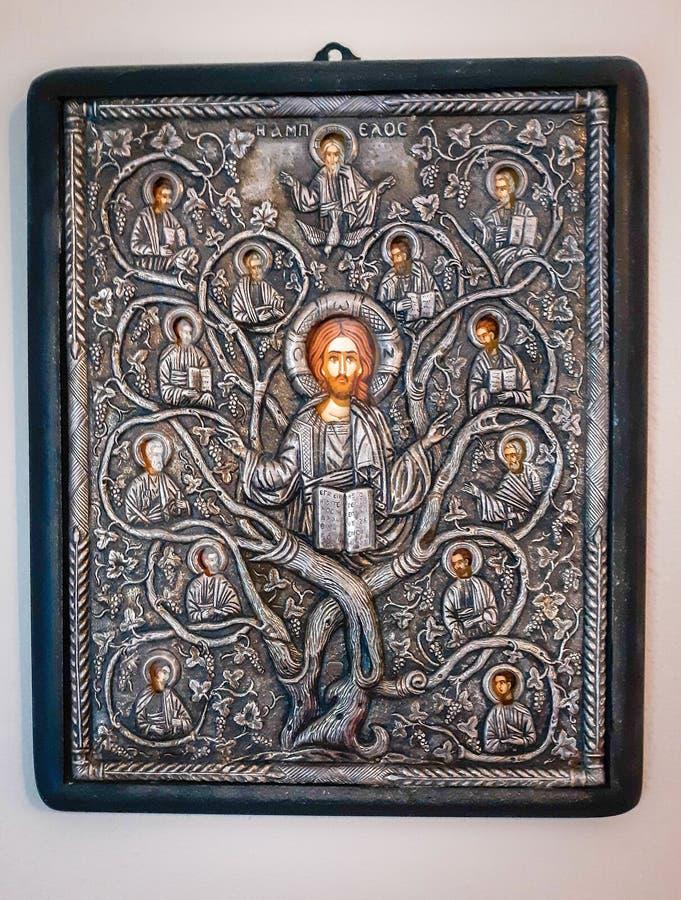 Cristianismo de la iglesia ortodoxa de los apóstoles de Cristo del icono fotografía de archivo libre de regalías