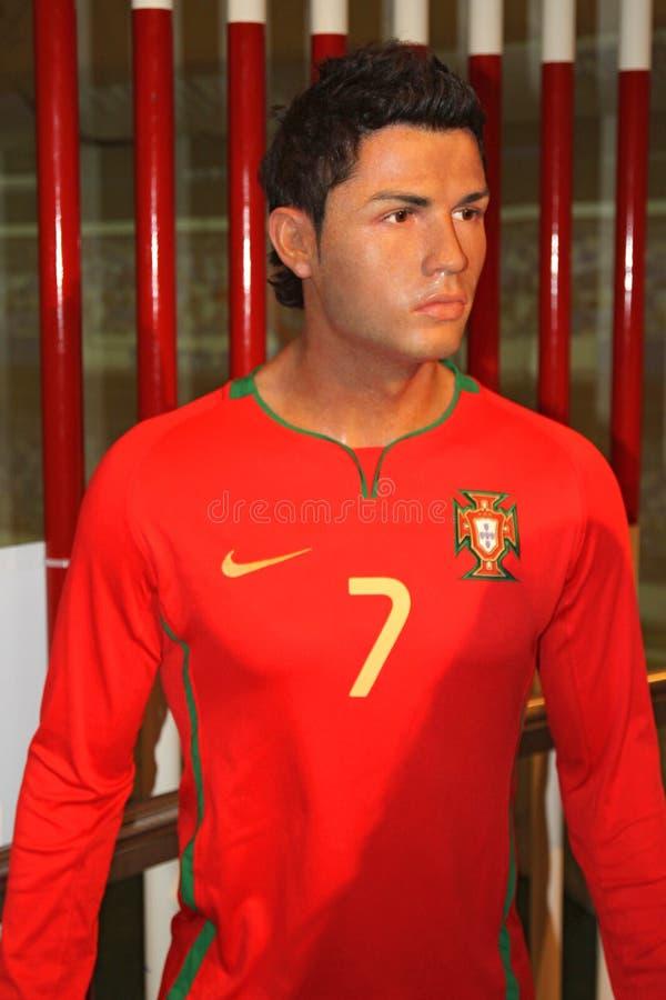 Cristiano Ronaldo à Madame Tussaud's photographie stock