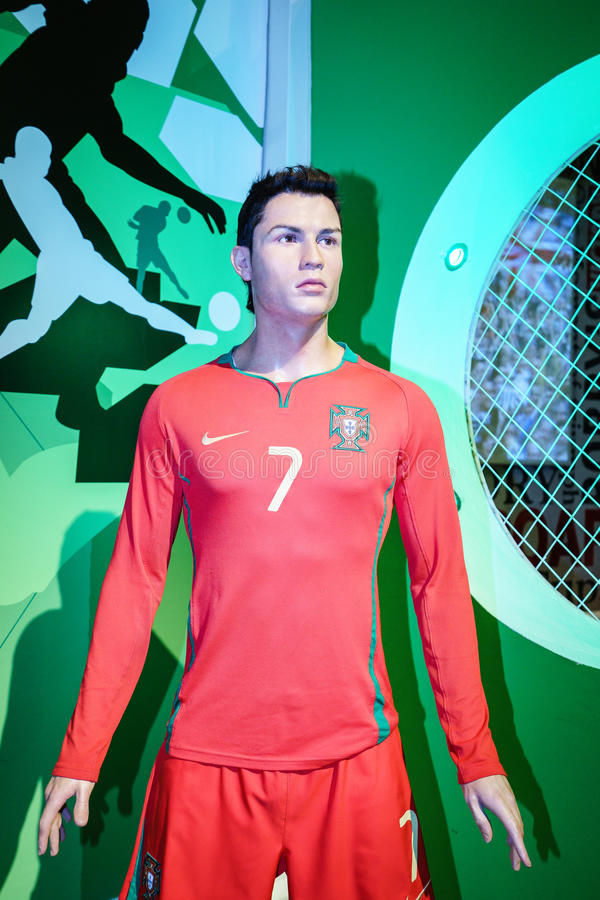 Cristiano Ronaldo à Madame Tussaud s photographie stock