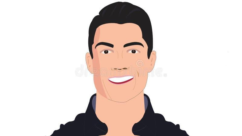 Cristiano Ronaldo illustrazione di stock