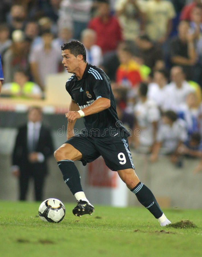 Cristiano Ronaldo in action royalty free stock photography