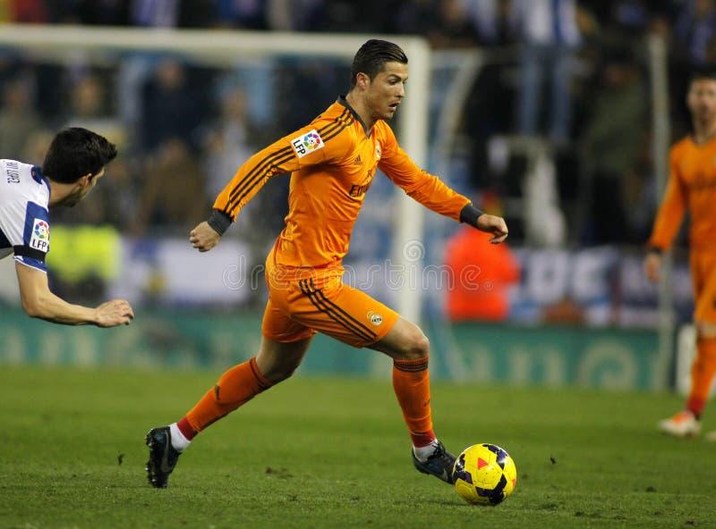 Cristiano Ronaldo av Real Madrid royaltyfria bilder