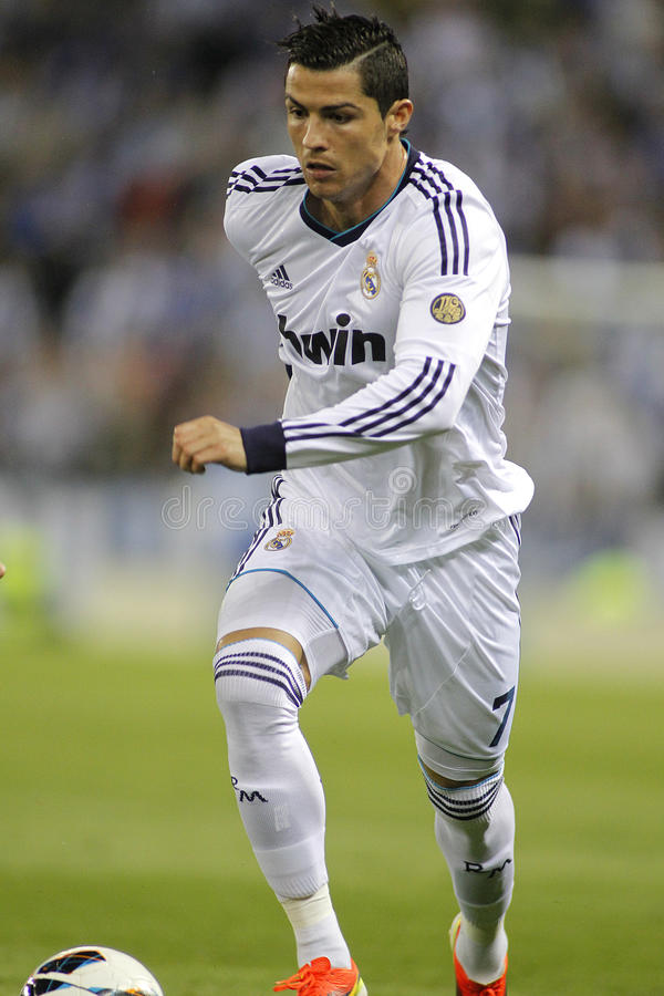 Cristiano Ronaldo de Real Madrid photos stock
