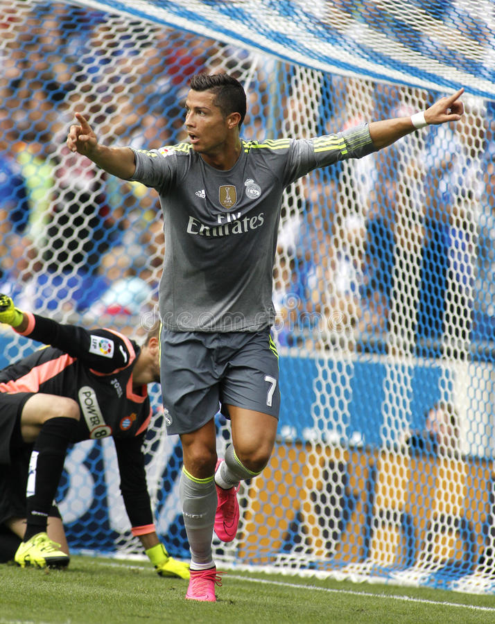 Cristiano Ronaldo de Real Madrid fotografia de stock royalty free
