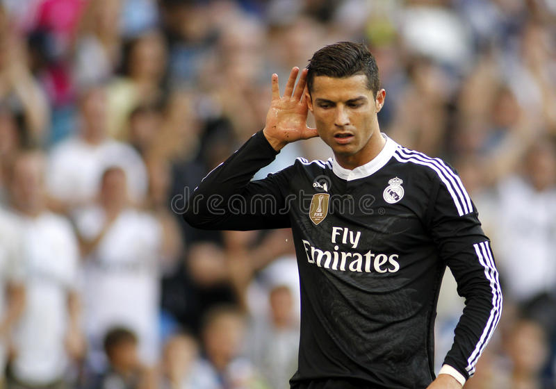 Cristiano Ronaldo di Real Madrid immagine stock